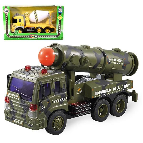 Hoffmann мод. фрикц. 1:16 64962 Спецтехника Military Power Vehicle, свет, звук