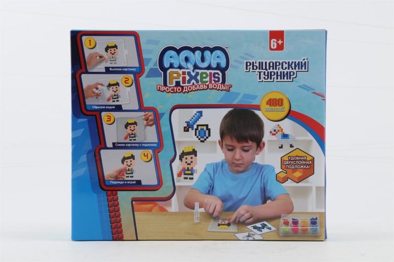 1Toy Aqua Pixels Т13076 квадрат. дет. 480 дет. Рыцарский турнир