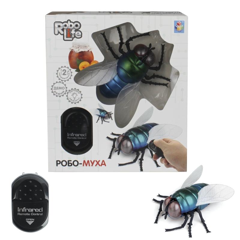 1Toy RoboLife Т14326 Робо-муха на и. к упр., свет. эффекты 16. 5х5. 3х18. 6см
