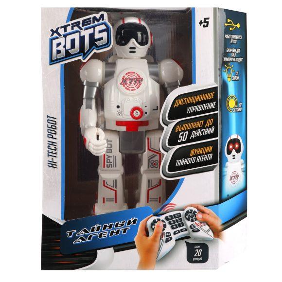 Longshore Limited Робот на р. у 30038 Xtrem Bots Тайный Агент, свет. и звук. эффекты в наборе USB-провод инструкция от 5 лет, 28,5x14x35см