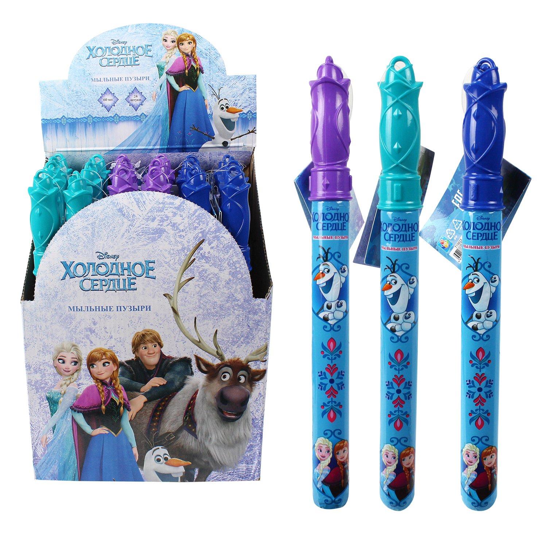 1Toy Мыльные пузыри Т15023 Disney. Холодное сердце, колба в термоплёнке, 60мл, д. б