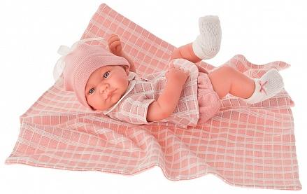 Antonio Juan 5046P Кукла-младенец Дафна в розовом, 42см