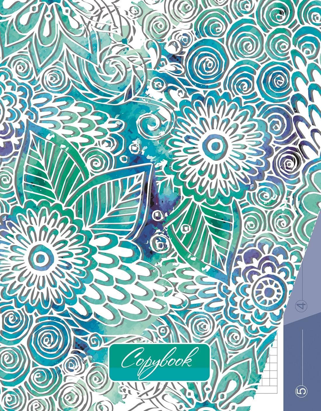 КТС-Про Бизнес-блокнот А5 215х165мм 80л кл. Цветочный узор 7БЦ тв. обл. гл. лам. 65г. м2