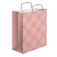Pioneer-упаковка 64624 Сумка бум. 18 бол. Розовый кашемир 26х32х10см