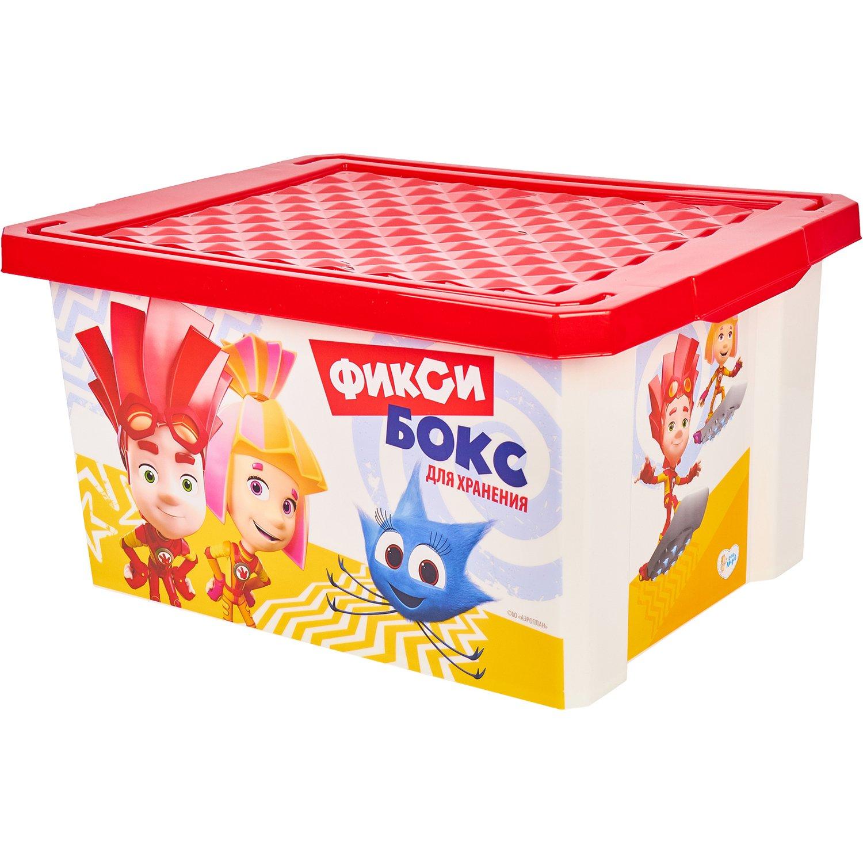 Little Angel Детск. ящик для хранения игрушек LA1319 Фиксики 17л, красный