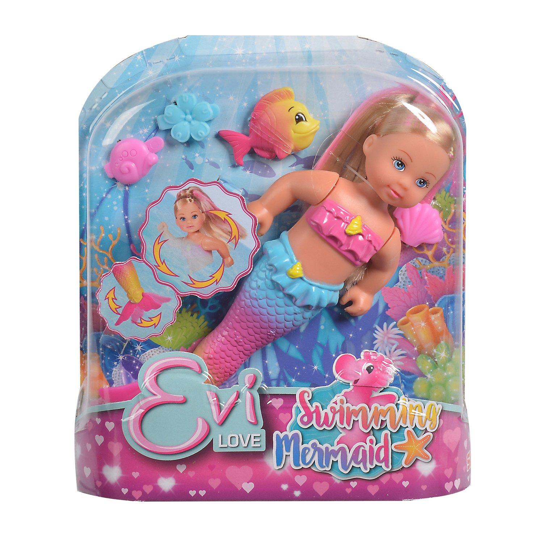 Evi Love  5733318 Кукла Еви 12см Русалочка с крутящимся хвостом