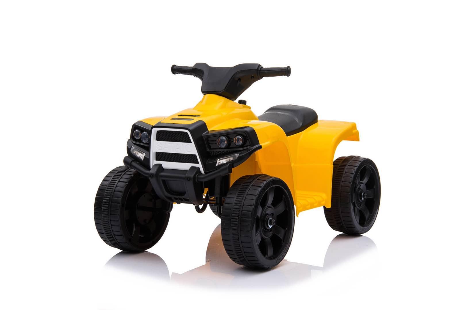City-Ride  CR056YW Квадроцикл, 6V4. 5*1, 20W*1, движ. вперед-назад, свет, звук, мелодии В. Шаинского, пласт. колёса, цв. желтый в. к 62х35х28см