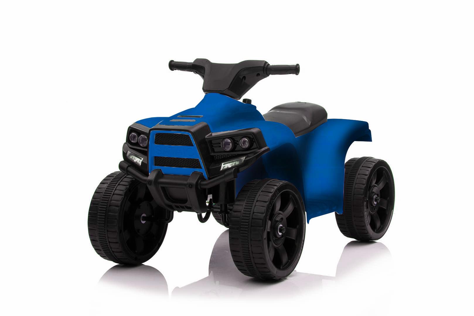 City-Ride  CR056BL Квадроцикл, 6V4. 5*1, 20W*1, движ. вперед-назад, свет, звук, мелодии В. Шаинского, пласт. колёса, цв. синий в. к 62х35х28см