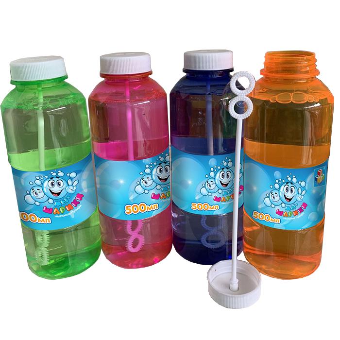 1Toy Мыльные пузыри Т19919 Мы-шарики! 500мл бутылка, венчик внутри, цв. в ассорт.