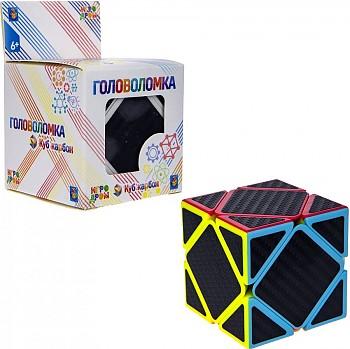 1Toy Головоломка Куб карбон квадраты 5. 5х5. 5, в. к 6х6х9см