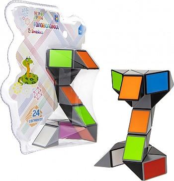 1Toy Головоломка Змейка разноцветная кобра (24 сегмента) н. б 15. 5х18. 5х9см