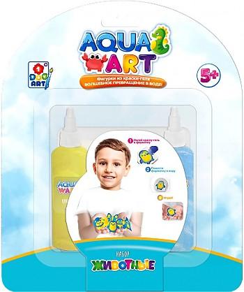 1Toy Aqua ART Т20079 Набор Животные (1 форм.,  2 краски c блёстками по 50 мл) н. б