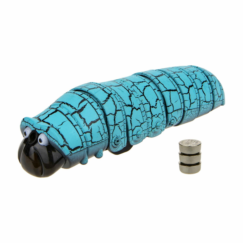 1Toy RoboLife Т18757 Робо-гусеница (голубая) (3хAG13 входят в компл) уп. 13,5*12*9см