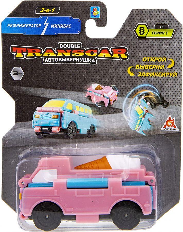 1Toy Автовывернушки Т20715 Transcar Double: Рефрижератор – Минибас, 8см,  н. б