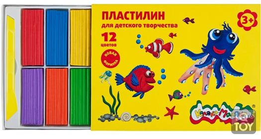 Каляка-Маляка  Пластилин для детского творчества 12цв. 180г