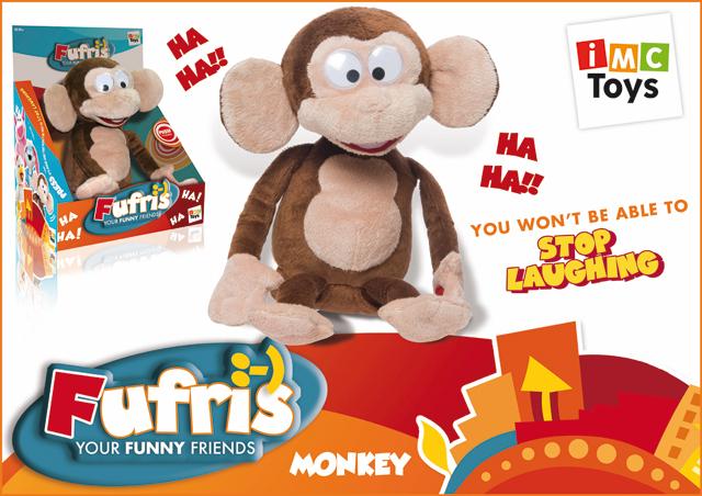 IMC-Toys ТМ Fufris Забавные друзья 93980 Обезьянка, смеется,  на бат. в. к 1106894