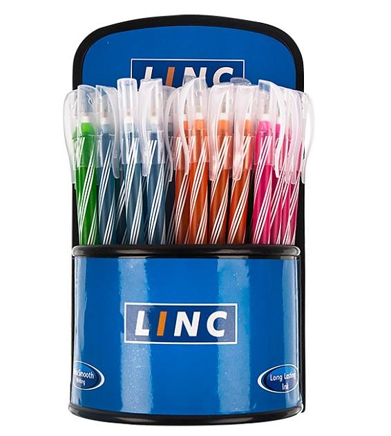 Linc Ручка шарик. Candy одноразовая 0,6мм синяя