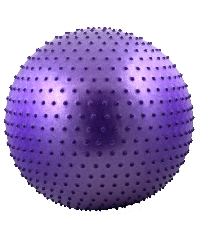 АКЦИЯ!!! Мяч гимнастический массажный STARFIT GB-301 75 см, фиолетовый (антивзрыв) 1. 10, Код ТН ВЭД 9506620000