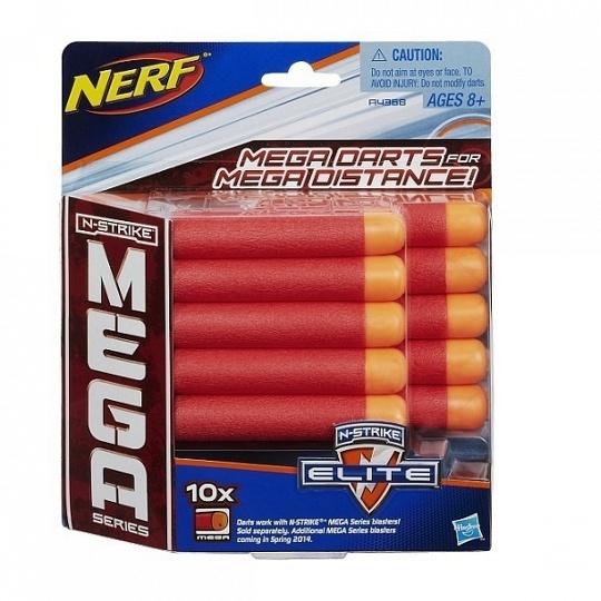 Hasbro. Nerf 4368А Мега Комплект 10 стрел для бластеров
