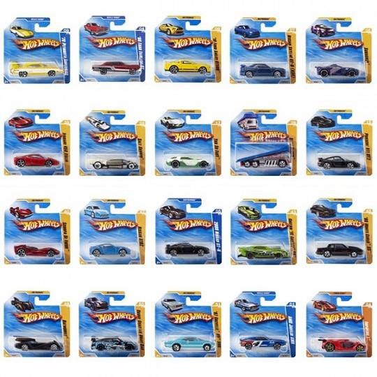 Hot Wheels 3758N Машинки базовой коллекции в дисплее 24шт.