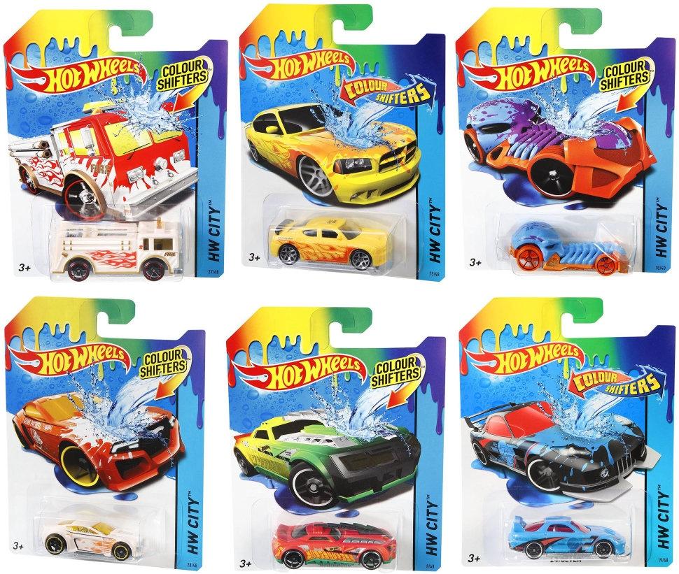 Hot Wheels 15 Машинки Color Shifters в ассорт.