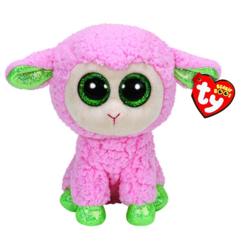 АКЦИЯ!!! TY  Beanie Boo. s 36937 Овечка (розовая с зелеными копытцами) 25см