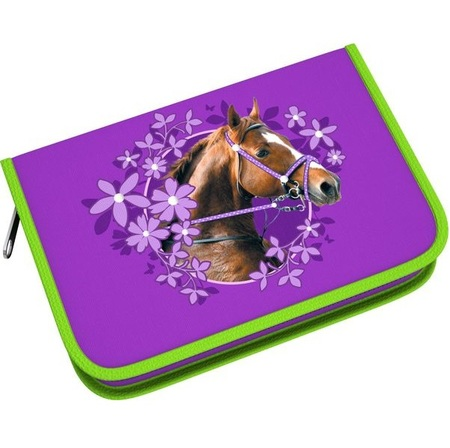 АКЦИЯ!!! ErichKrause  39793 Пенал-книжка Wild Horse с одним отд., 2 доп створки с нап., 135х205х33мм