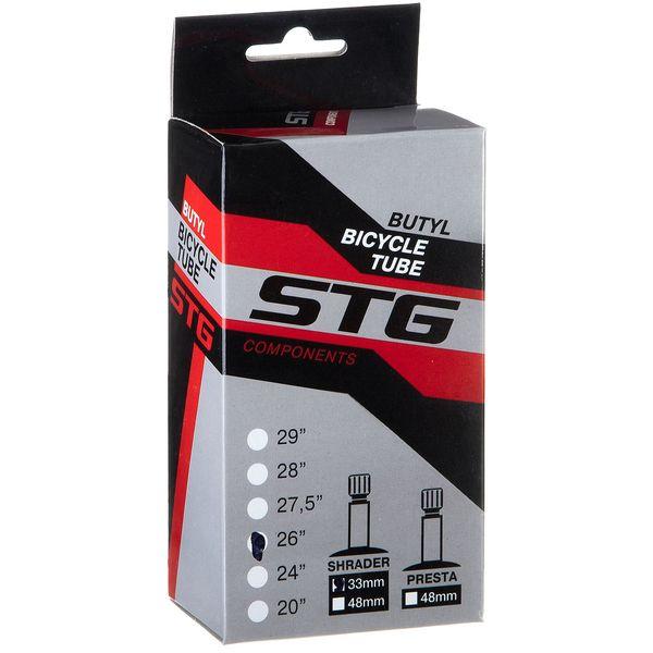 Камера велосипедная STG, бутил, 26Х1,75. 1,95 автониппель 33мм в. к Х82418