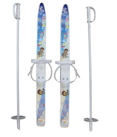 Лыжи детские МПЛ 115. 00. ЛыжП Лыжики-пыжики с палками 75см