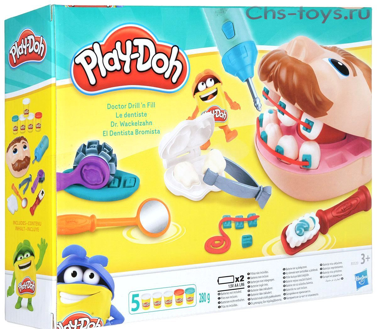 Hasbro. Play Doh 5520B Набор пластилина Мистер Зубастик