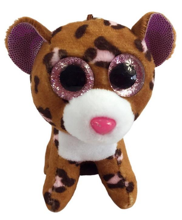 ABtoys Мяг. М0014 Леопард коричневый, на брелке 12см