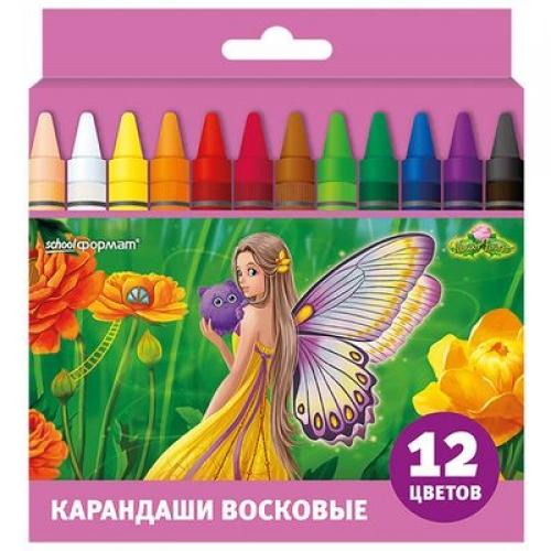 SchoolФормат Карандаши цв. Цветочные Феи 12цв.