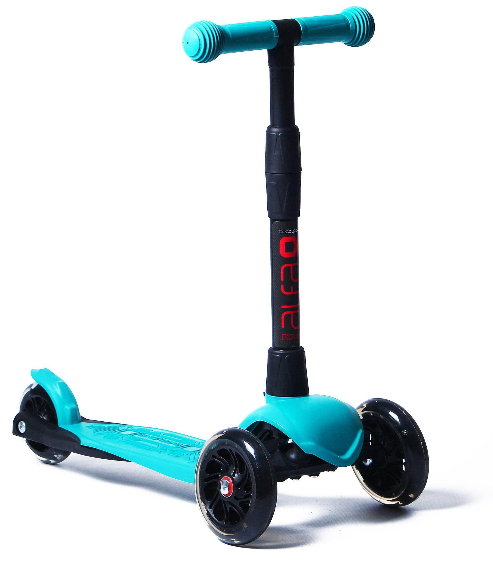АКЦИЯ!!! Альфа  Самокат 3-х кол. детск. 003-2160 (Buggy Boom Alfa Model) (яркий голубой 60) с регулир. складн